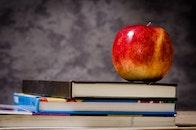 food, apple, books