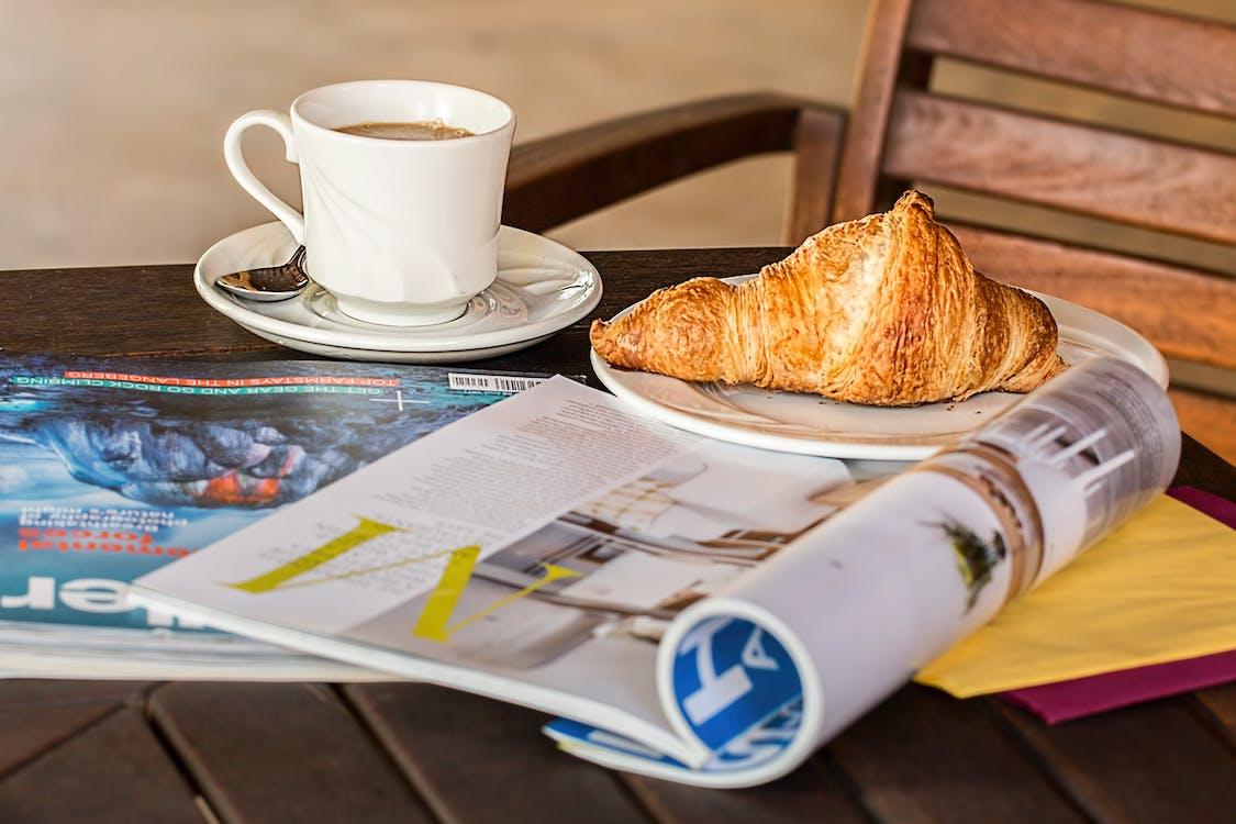 Nahaufnahme Der Kaffeetasse Auf Dem Tisch
