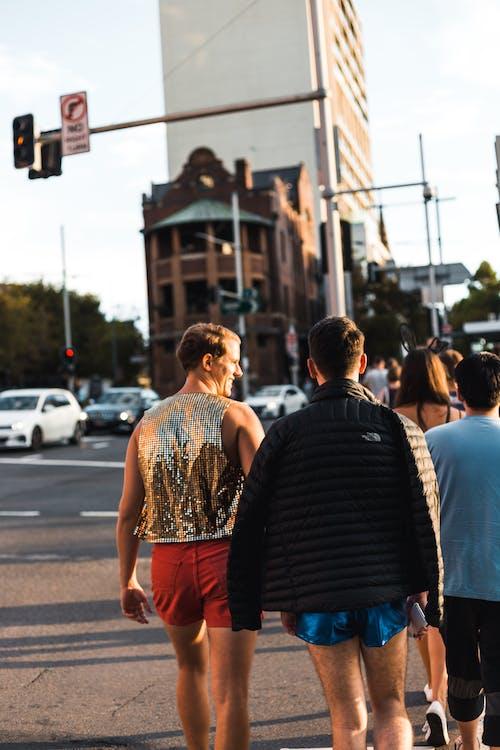 Men Walking on Street