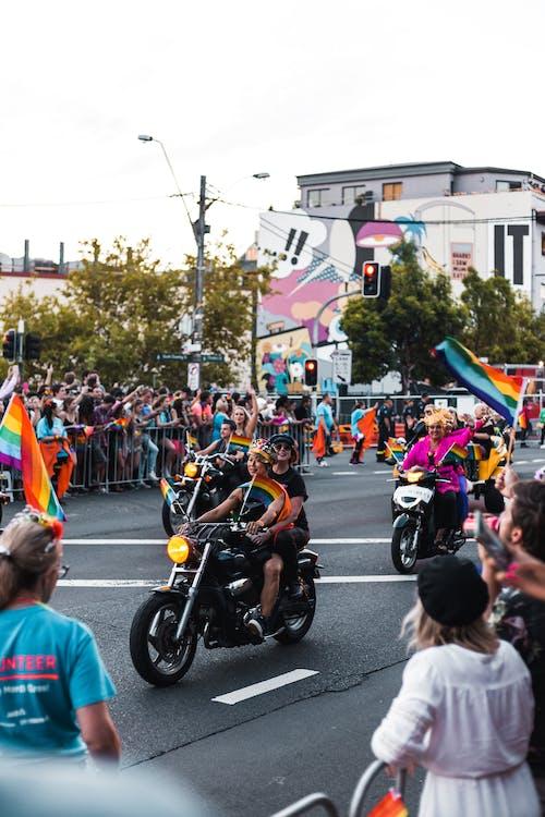 Gratis lagerfoto af by, cyklister, dagslys, demonstration