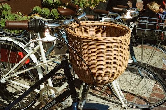 Free stock photo of bikes, bicycles, transportation, basket