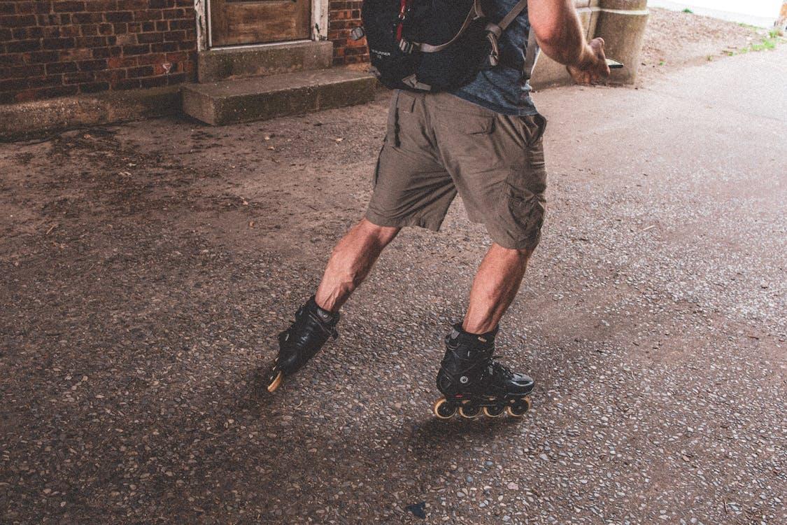 Man Wearing Inline Skates