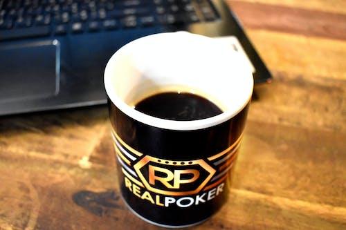 Free stock photo of coffee cup, coffee mug, laptop