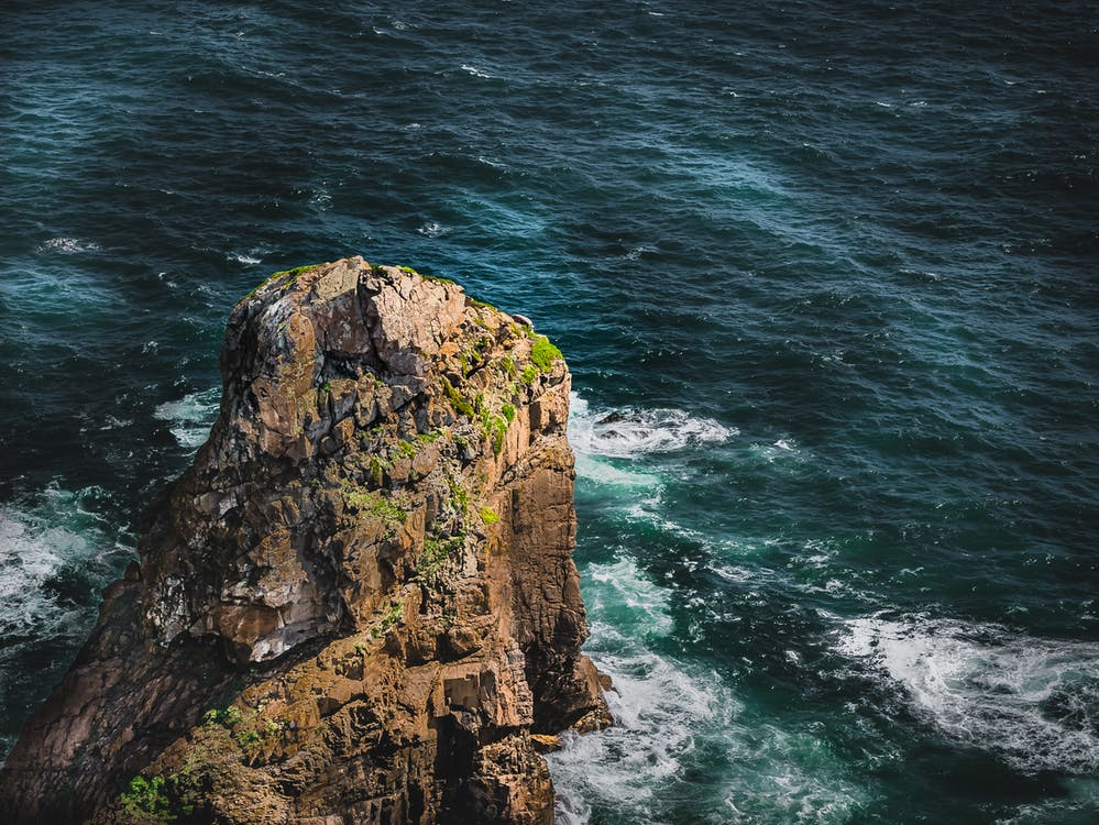 bord de mer, cailloux, côte
