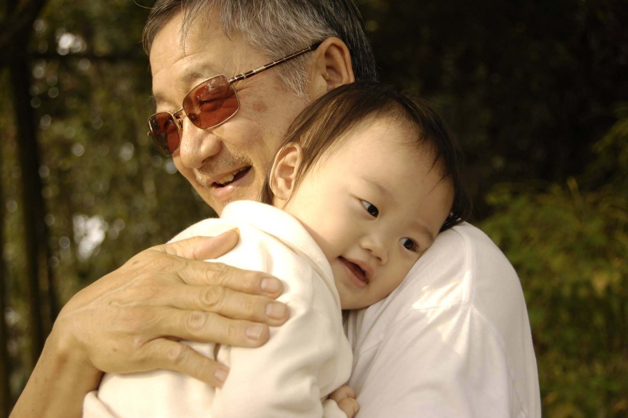Close-up of Father With Baby