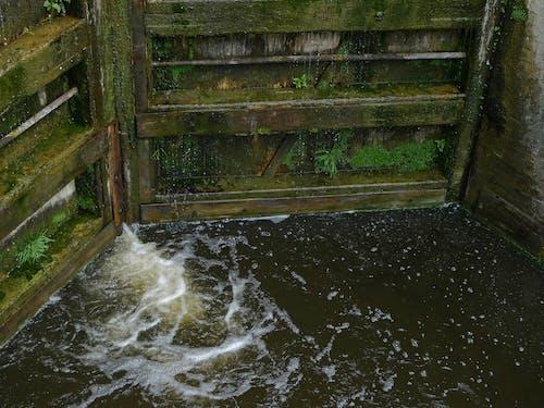 Free stock photo of canal, canal lock, foam, lock