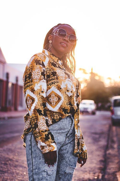 Ilmainen kuvapankkikuva tunnisteilla aamu, afrikkalainen nainen, afroamerikkalaiset naiset, auringonlasku