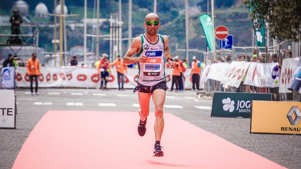 Man Running in a Marathon