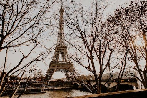 Ilmainen kuvapankkikuva tunnisteilla aamu, arkkitehtuuri, eiffel-torni, joki