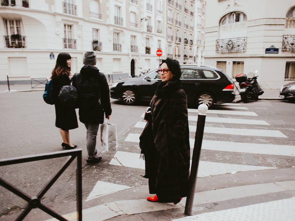 abrigo, abrigo de piel, al aire libre
