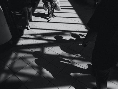 Free stock photo of black and white, light, people, shadow
