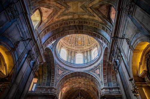 大教堂, 天花板, 室內, 建築 的 免费素材照片