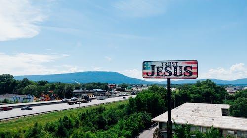 Kostenloses Stock Foto zu christentum, dji, drohne, jesus