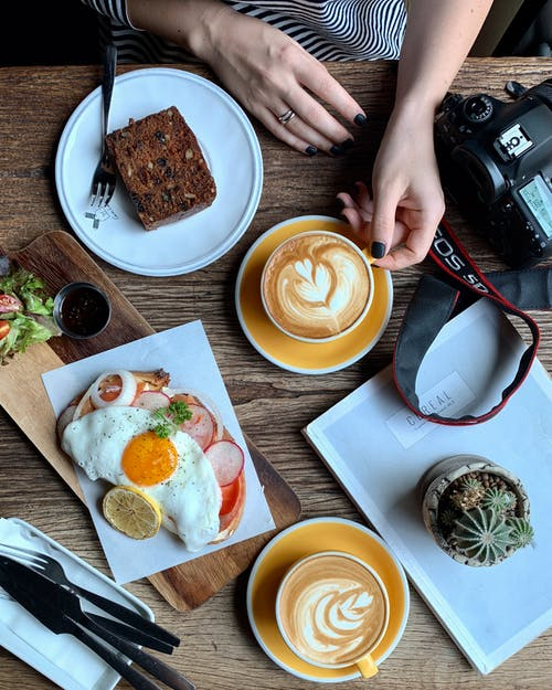 Foto profissional grátis de alimento, apresentação de alimentos, cacto, café