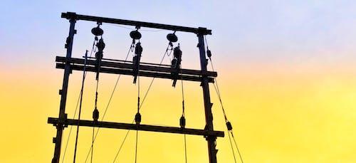 Gratis lagerfoto af aftenhimmel, elektricitet, elektrisk strøm, elmast