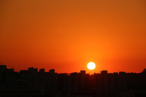Photos gratuites de à contre-jour, aube, coucher de soleil, coucher du soleil