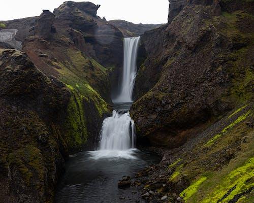 Darmowe zdjęcie z galerii z islandia, wodospad