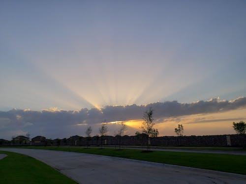 ゴールデンアワー, 日没, 空, 雲の無料の写真素材