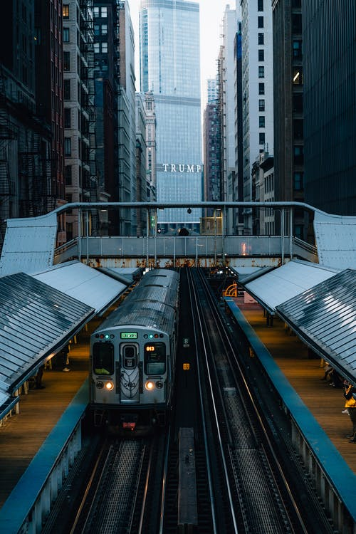 Imagine de stoc gratuită din antrena, călătorie, cale ferată, centrul orașului