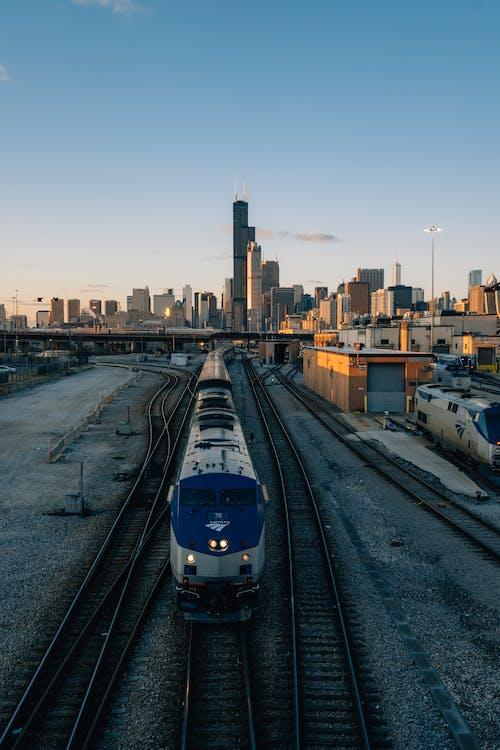 bahnhof, chicago, eisenbahn