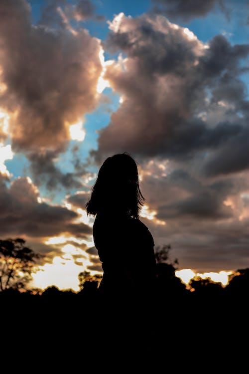 Gratis stockfoto met gouden zon, omtrek, wolken, zonsondergang
