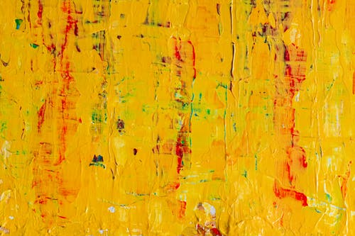 Photo of Yellow Abstract Painting