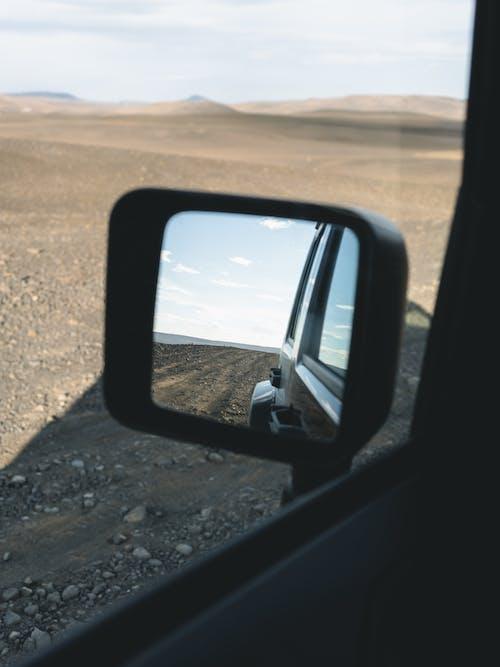 冰島, 後照鏡, 後視鏡, 汽車 的 免費圖庫相片