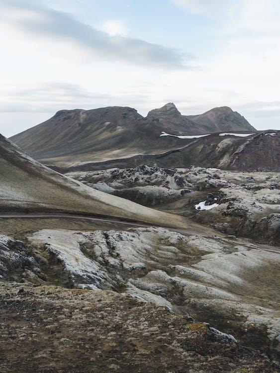 fjell, island, landskap