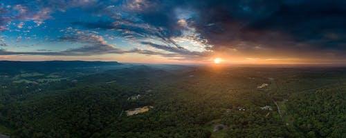 全景, 天性, 從上面, 日出 的 免费素材照片
