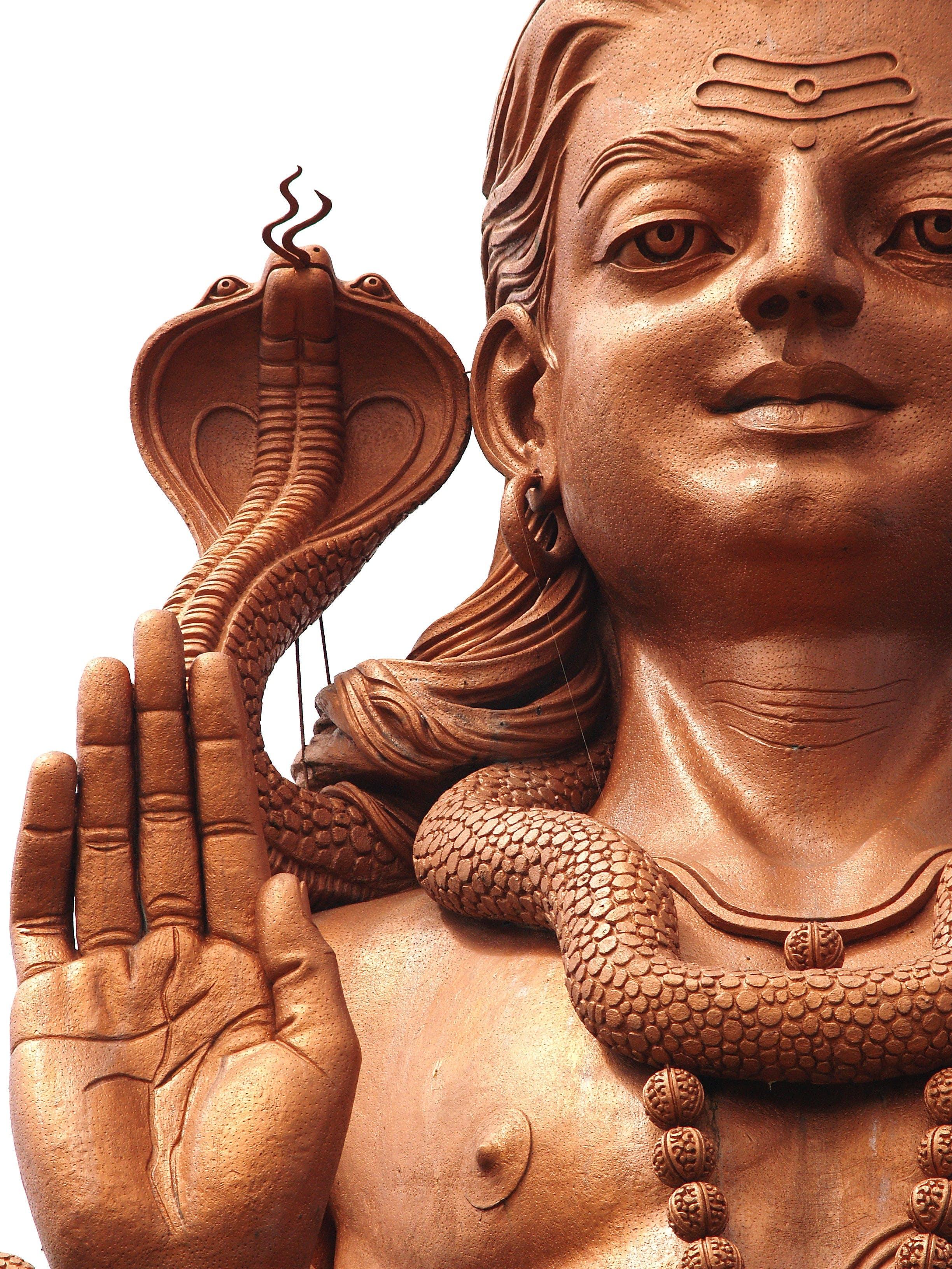 Close-up Portrait of Buddha Statue