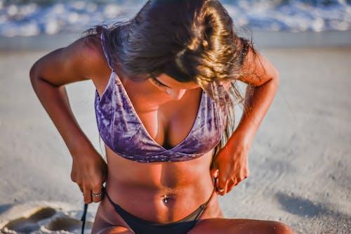 Ingyenes stockfotó bikini, fürdőruha, homok, Napkelte témában