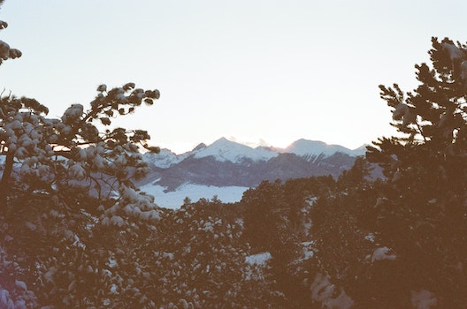 Free stock photo of snow, dawn, mountains, sunset