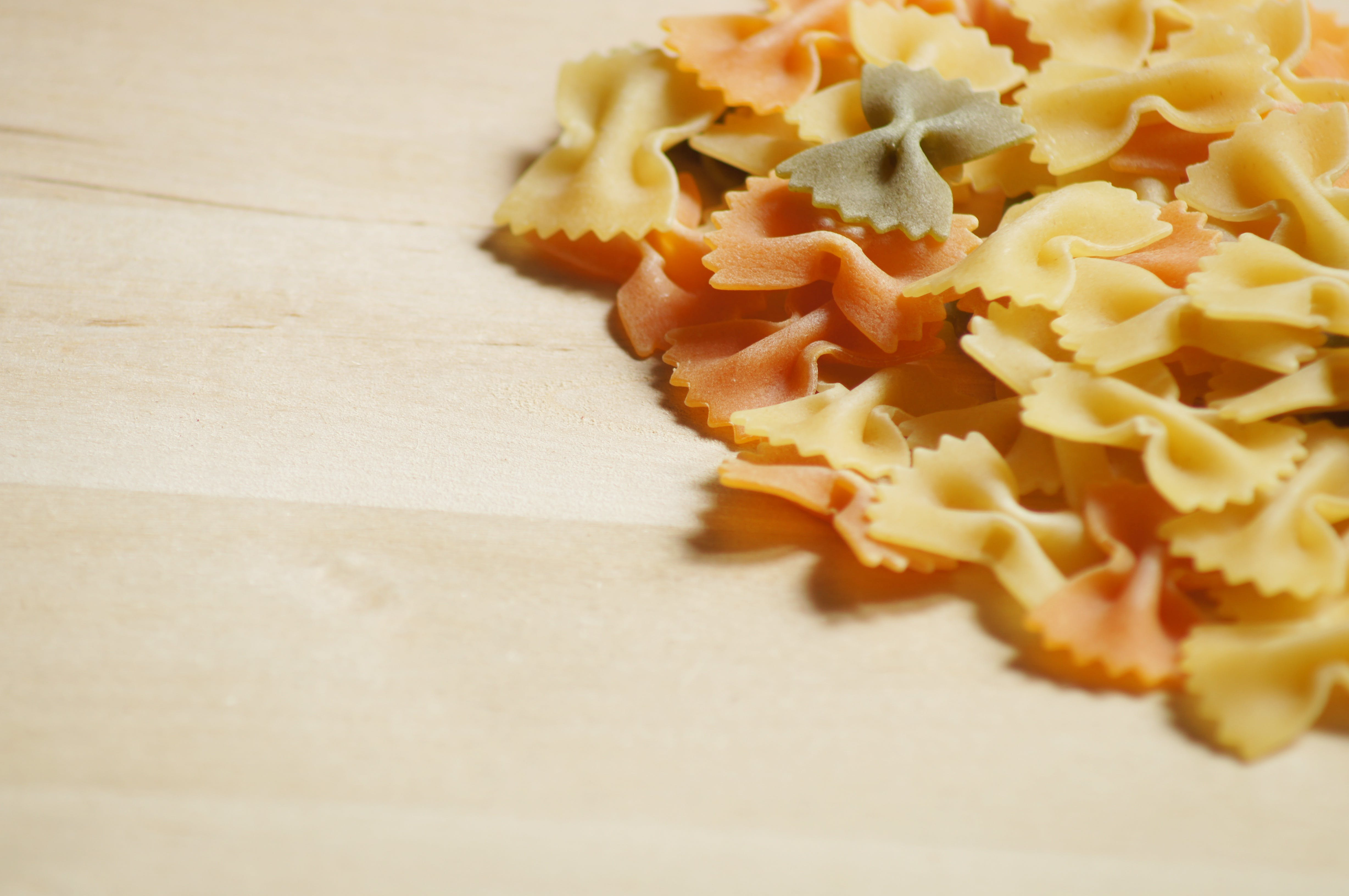Close Up of Farfalle Pasta