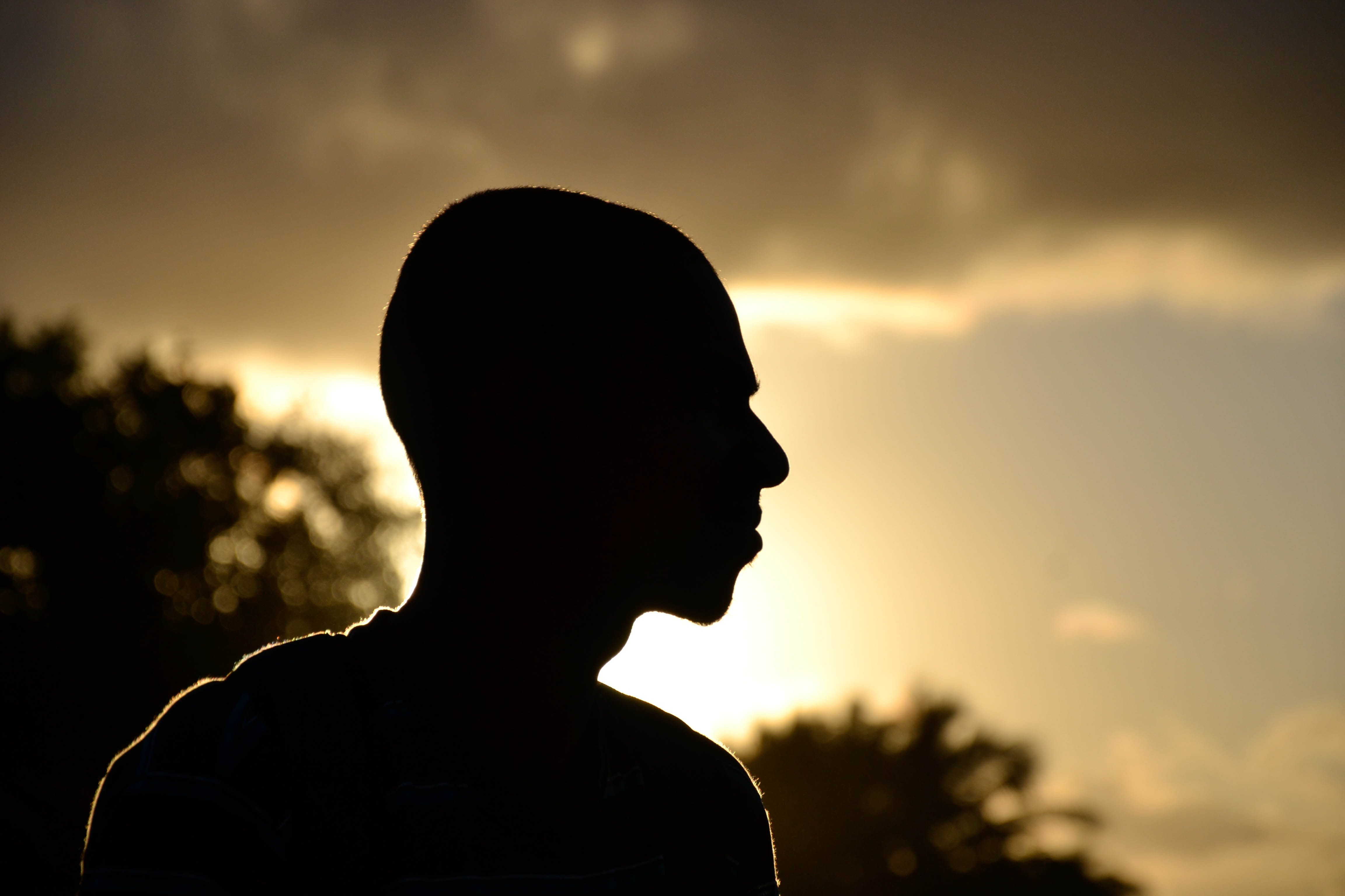 Close-up Portrait of Silhouette Man
