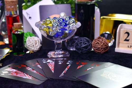 Free stock photo of cards, glass, jewels