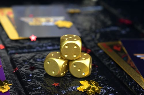 Free stock photo of cards, dice, dices