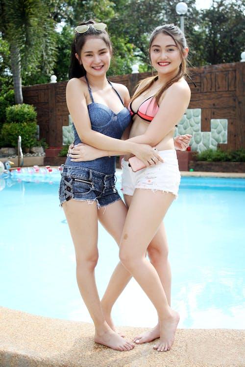 Free stock photo of buddies, girls, pool, sexy