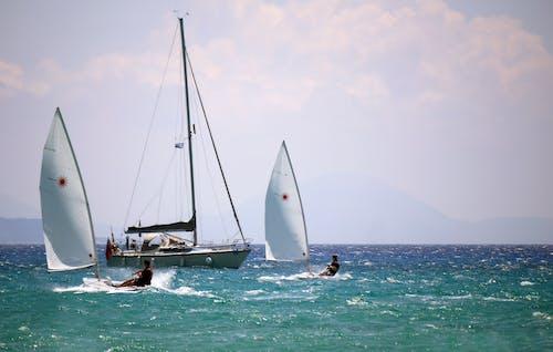 Foto stok gratis berlayar, laut, lautan, selancar angin
