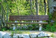 bench, landscape, nature