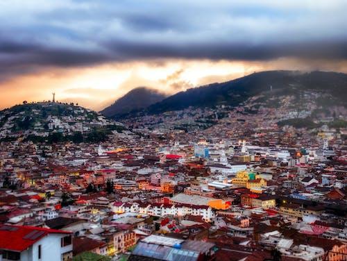 Photos gratuites de amérique du sud, citadin, coucher de soleil, equateur