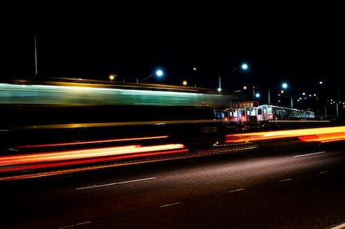 Foto profissional grátis de Chicago, escuro, estrada, exposição longa