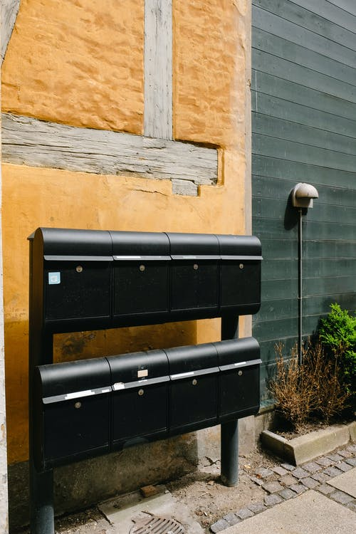 Black Steel Mailboxes