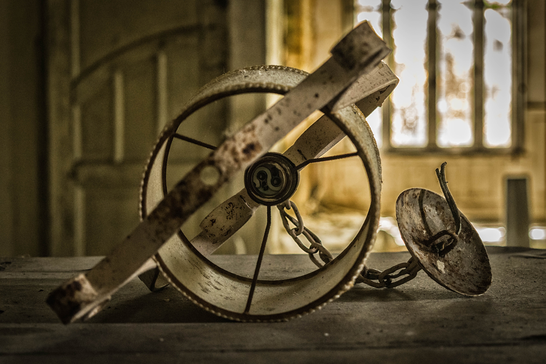 Close-up of Abandoned Machine
