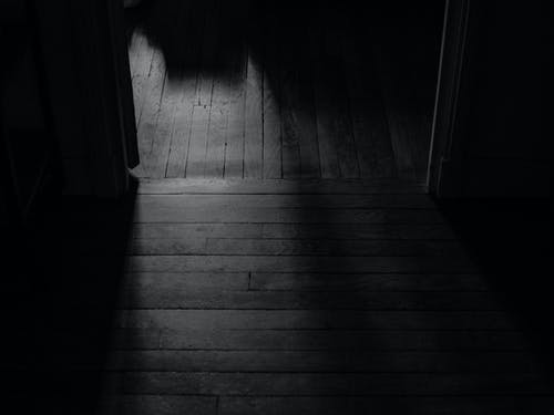 Monochrome Photo Of Wooden Floor