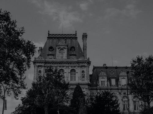 Základová fotografie zdarma na téma architektura, budova, černobílý, cestovní ruch