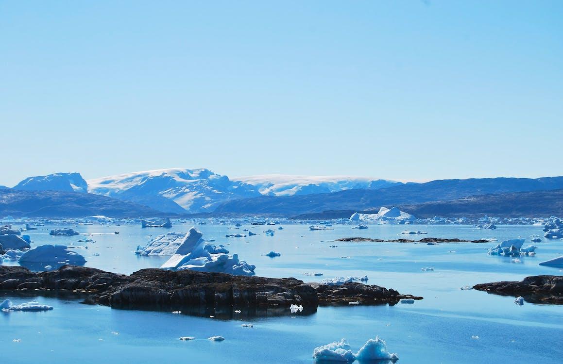 ánh sáng ban ngày, Bắc cực, băng