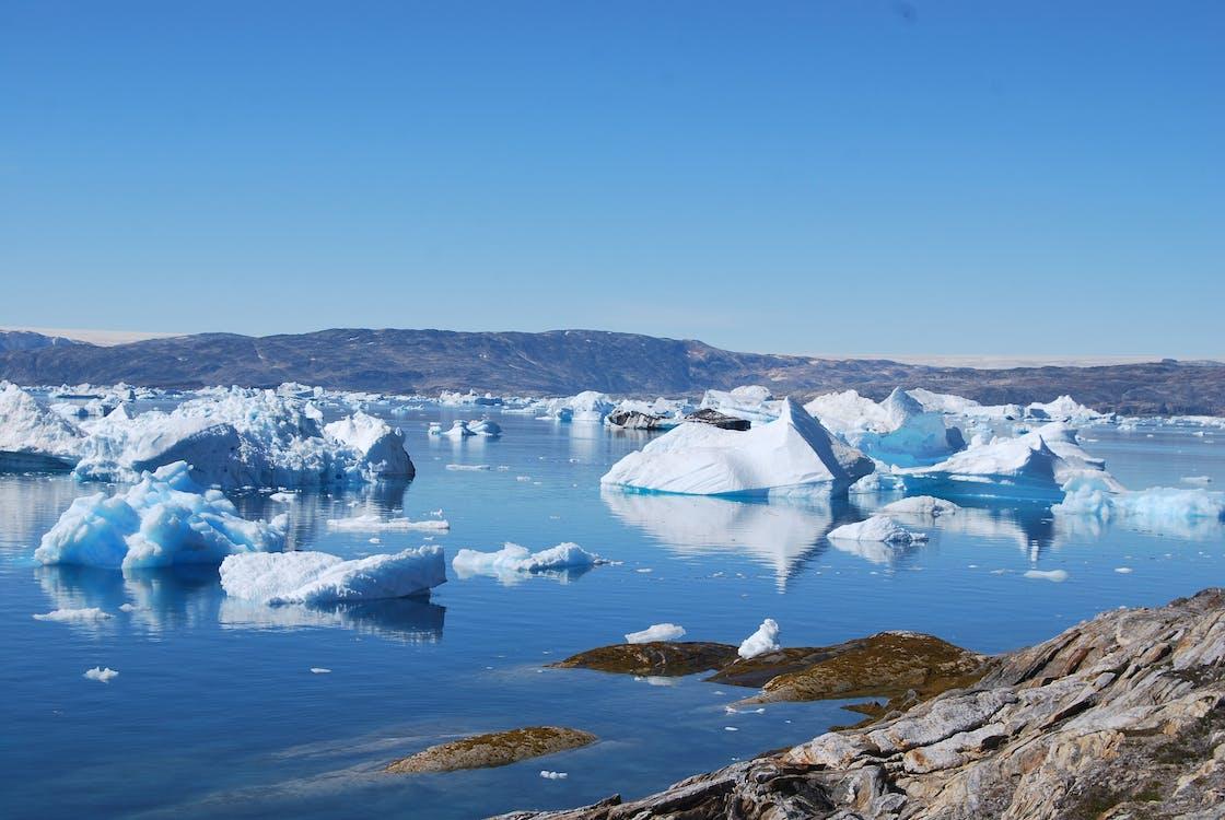 arktis, eis, eisberge