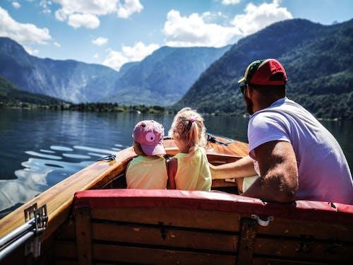 Immagine gratuita di bambini, canoa, fiume, lago