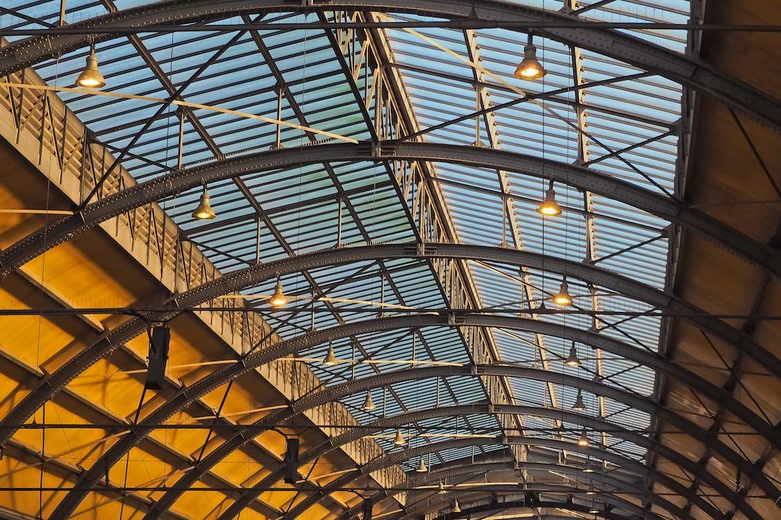 acciaio, archi, architettura