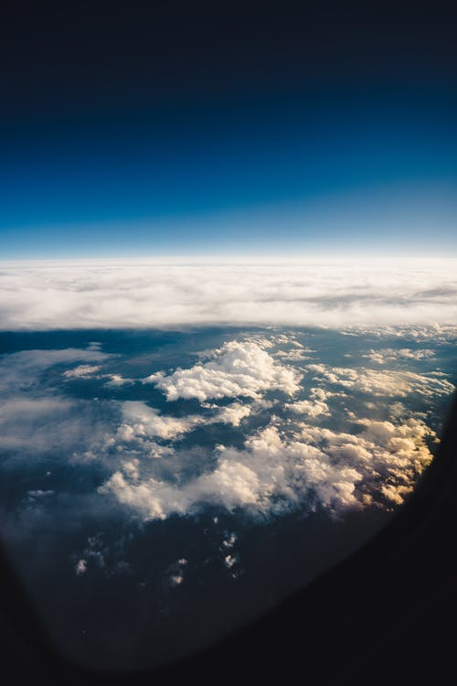Free stock photo of airplane window, clouds, cloudscape, space